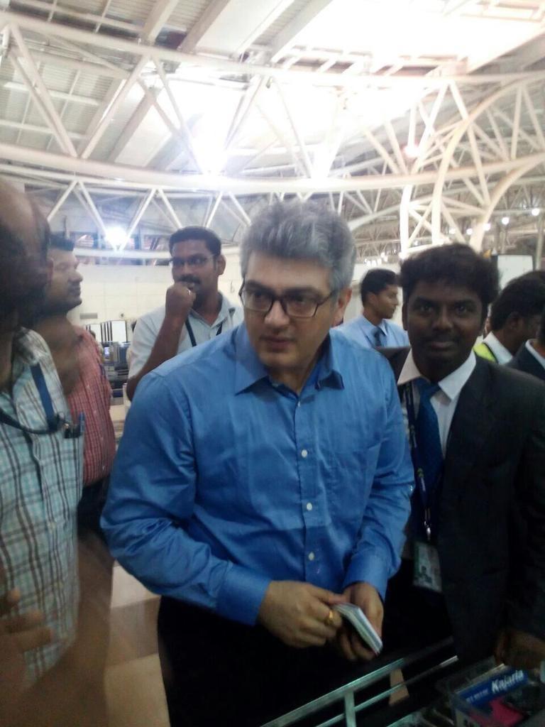 Ajith leaves Chennai for AK 57 Shooting in Bulgaria.