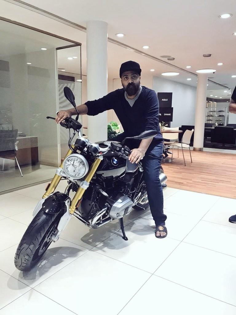 Simbu,actor Simbu,Simbu with BMW Motor Ad,BMW Motor Ad,Simbu at BMW,Simbu with his new BMW Bike,Simbu with BMW Bike