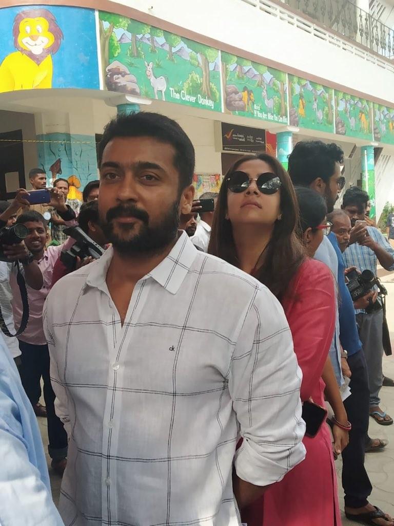Kollywood Celebs Vote: Suriya, Jyothika Cast Their Vote