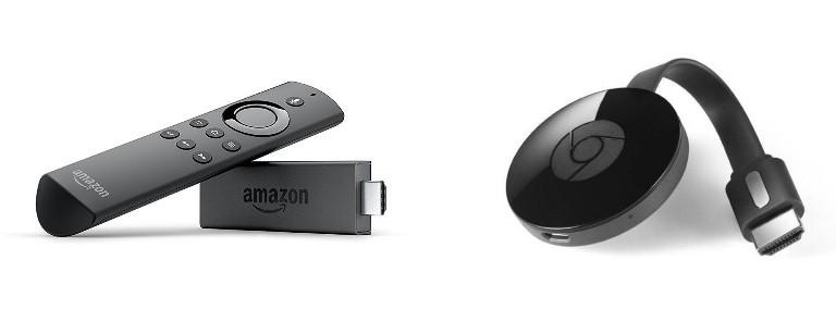 Amazon Fire TV Stick vs Google Chromecast 2