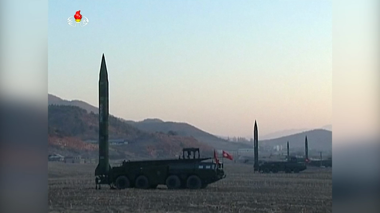 North Koreas latest missile footage released as US THAAD missile system deployed in South Korea