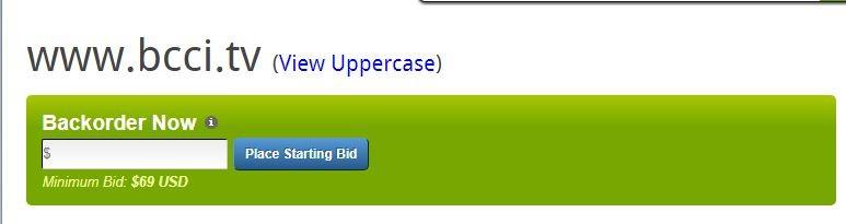 BCCI website
