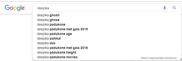 Deepika Ghose (Ghosh) leaves Deepika Padukone behind in Google search