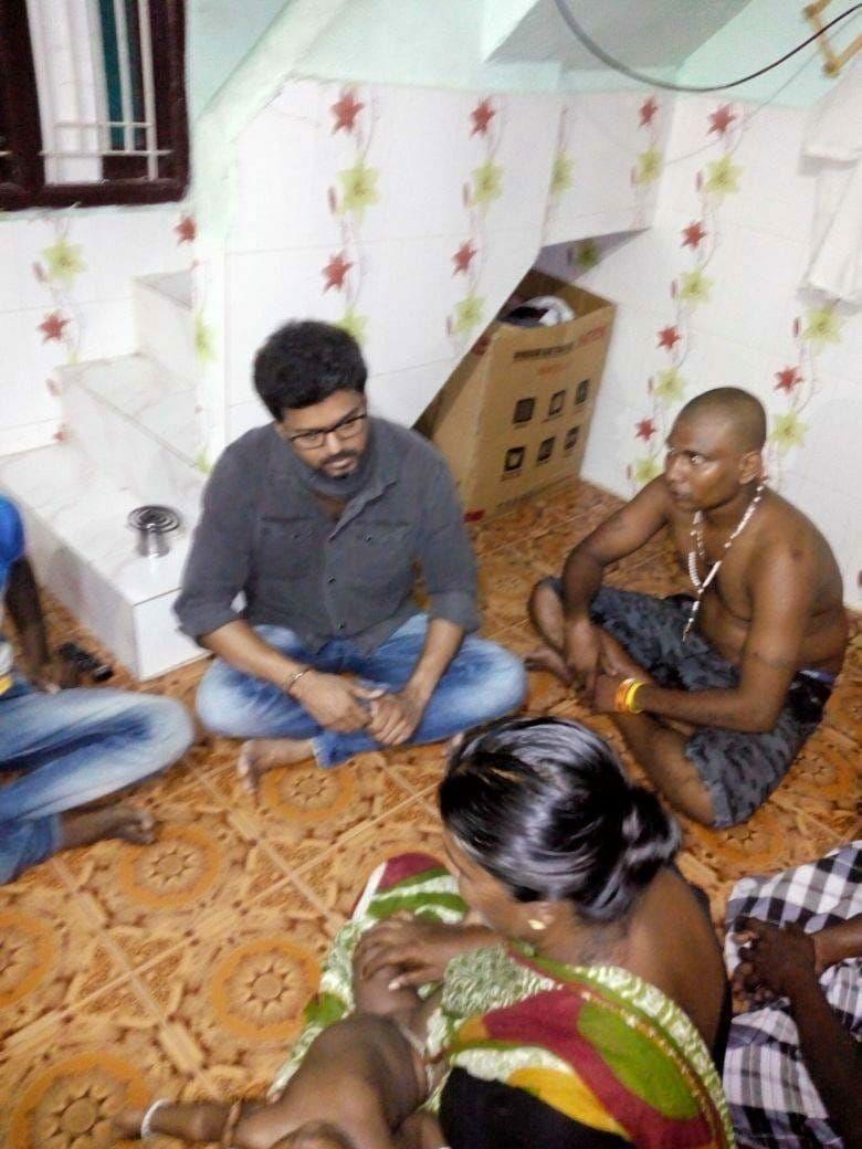Thalapathy Vijay,Thalapathy,Vijay,Vijay visits Sterlite,Vijay Sterlite,Vijay at Thoothukudi,Thoothukudi,Thoothukudi violence