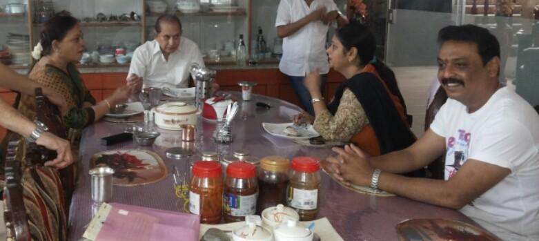 Jayasudha,Naresh,Krishna,Jayasudha and Naresh meet  Superstar Krishna photos
