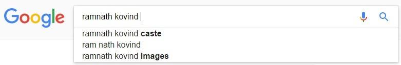 Ramnath Kovind google search result