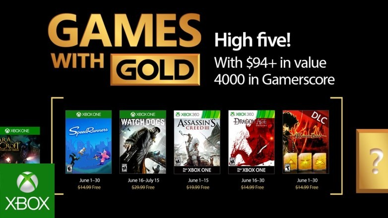 Xbox Games with Gold April 2018