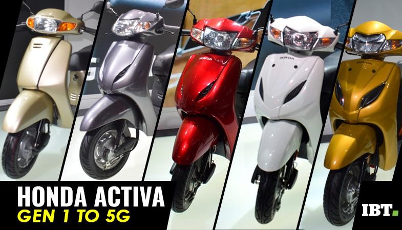 Honda Activa scooter generations