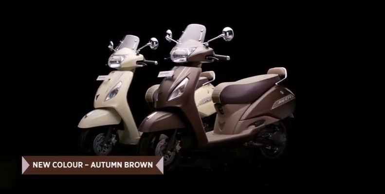 2018 Tvs Jupiter Classic Gets New Autumn Brown Colour Priced At Rs
