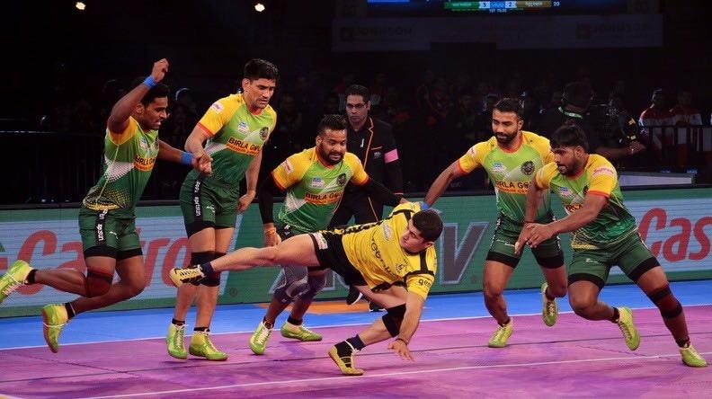 Pro Kabaddi 2017Pro Kabaddi,Patna Pirates hammer Telugu Titans,Patna Pirates beats Telugu Titans,Patna Pirates,Telugu Titans