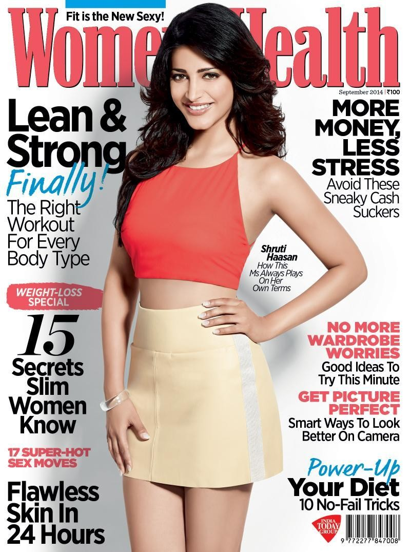 Shruti Haasan,Shruti Haasan photoshoot for Women's Health Magazine,Shruti Haasan photoshoot,Actress Shruti Haasan,Women's Health Magazine,Women's Health Magazine sep 2015,actress Shruti Haasan,Shruti Haasan latest pics,Shruti Haasan latest
