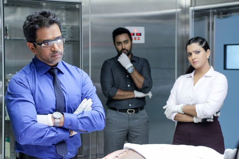 Arjun,Arjun salt-and-pepper look,arjun sarja,Arjun Sarja new look,Arjun Sarja new look in Nibunan,Nibunan movie stills,Nibunan movie pics,Nibunan movie images,Nibunan movie photos