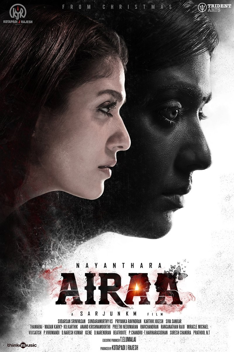 Airaa,Airaa first look,Airaa first look poster,Airaa poster,Airaa movie poster,Nayanthara,Nayanthara in Airaa,Nayanthara double role,Airaa pics,Airaa images,Airaa stills,Airaa pictures,Airaa photos