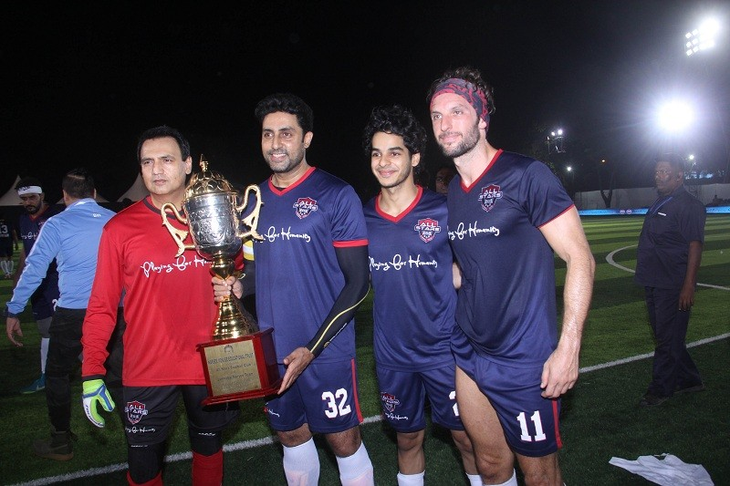 Playing For Humanity,Abhishek Bachchan,Ishaan Khatter,Dino Morea,bollywood,Soccer,Football For Charity,shashank khaitan