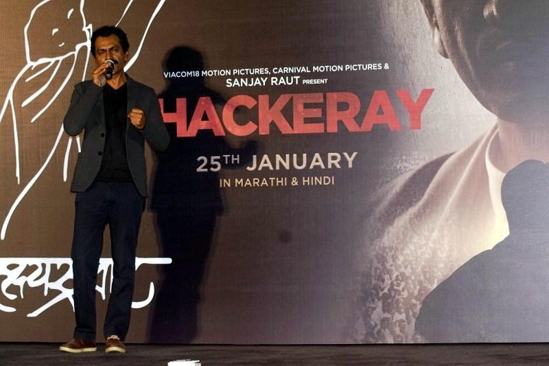 Nawazuddin Siddiqui,Nawazuddin Siddiqui Manto,Nawazuddin Siddiqui thackeray,Thackeray,Thackeray trailer,Thackeray trailer launch,Amrita Rao,Udhbav Thackeray