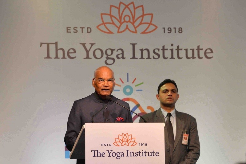 President Ram Nath Kovind,President Ram Nath Kovind Tweet,Maharashtra Governor,Chennamaneni Vidyasagar Rao,Devendra Fadnavis,Devendra Fadnavis government,The Yoga Institute,The Yoga Institute 100 years