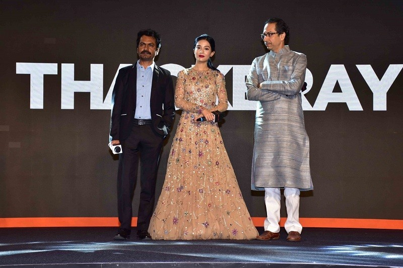 Nawazuddin Siddiqui,Nawazuddin Siddiqui thackeray,Amrita Rao,Shiv Sena,Shiv Sena chief Uddhav Thackeray,shiv sena in maharashtra,Uddhav Thackeray,Thackeray movie,Thackeray music launch