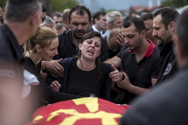 Macedonian Police Man Killed in Gun Battle,Macedonian Police,Police Man Killed in Gun Battle,Gun battle,Police Man,Brvenica,funeral,police man funeral,Macedonia Mourns,Deadly gun battle,Shooting,Zarko Kuzmanovski