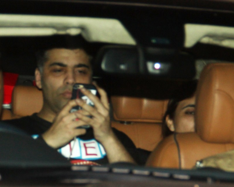 Celebs Spotted At Ranbir Kapoor House,Ranbir Kapoor,actor Ranbir Kapoor,Karan Johar,Arjun Kapoor,Anuskha Sharma,Bombay Velvet,Bombay Velvet movie,bollywood movie Bombay Velvet