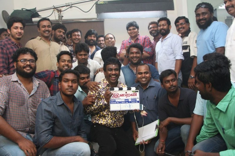 Iraivi Movie Pooja Stills,Iraivi Movie Pooja pics,Iraivi Movie Pooja images,Iraivi Movie Pooja photos,Bobby Simha,S. J. Surya,Karthik Subbaraj,Nikil Murugan,tamil movie Iraivi,Iraivi movie launch,tamil movie pics,tamil movie stills