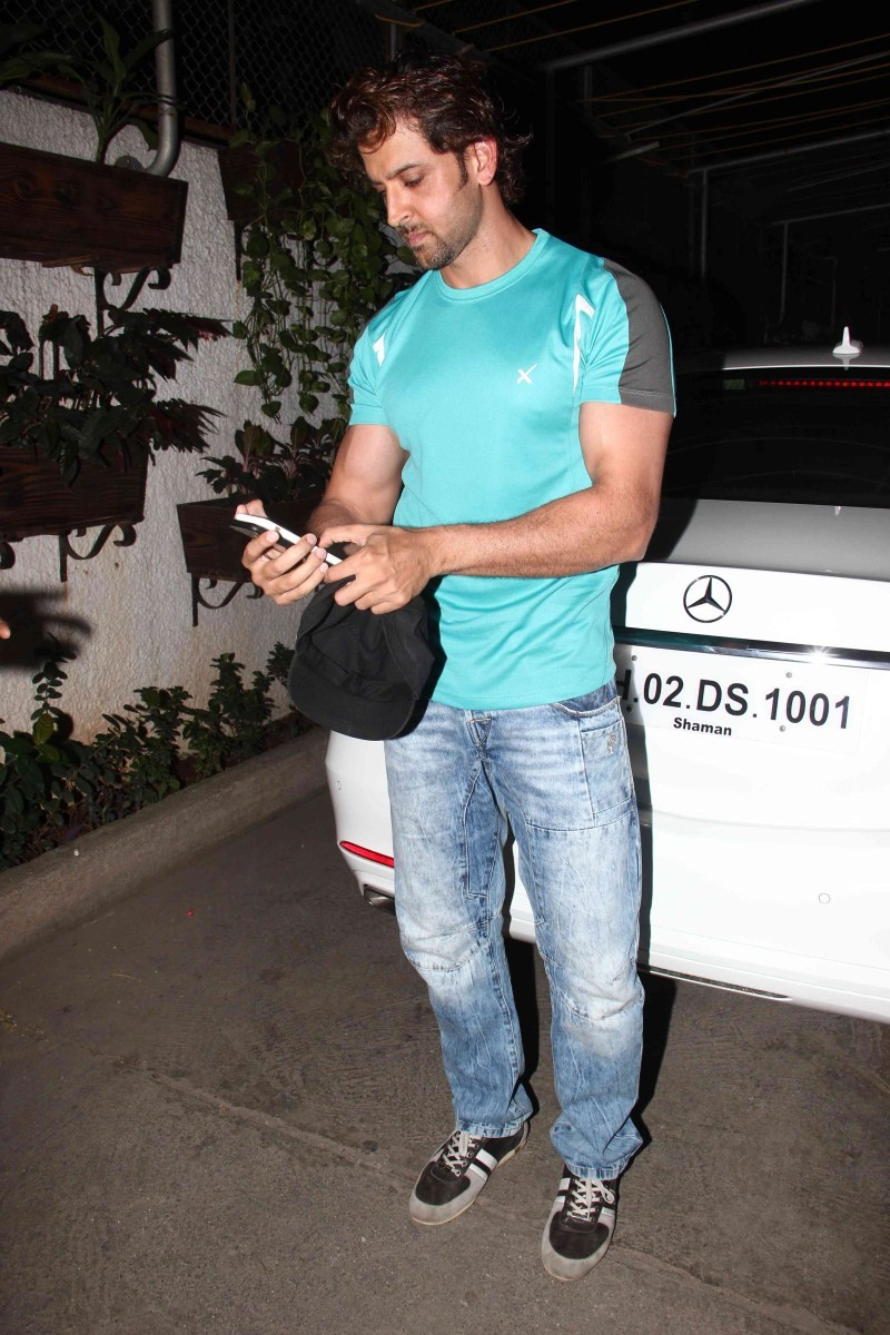 Actor Hrithik Roshan watch Welcome to Karachi at Sunny Super Sound