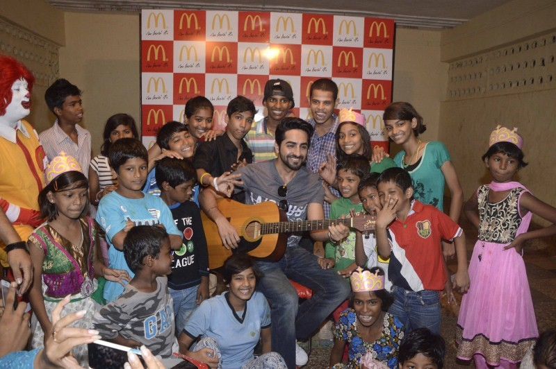 No TV Day,Catherine of Siena School and Orphanage,Ayushmann Khurrana,Ronald McDonald,McDonald,No TV Day celebration,Ayushmann Khurrana and Ronald McDonald celebrate No TV Day with children from Catherine of Siena School and Orphanage