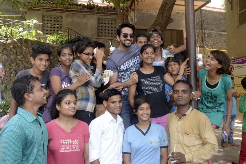 Ayushmann Khurrana and Ronald McDonald celebrate No TV Day with children from Catherine of Siena School and Orphanage