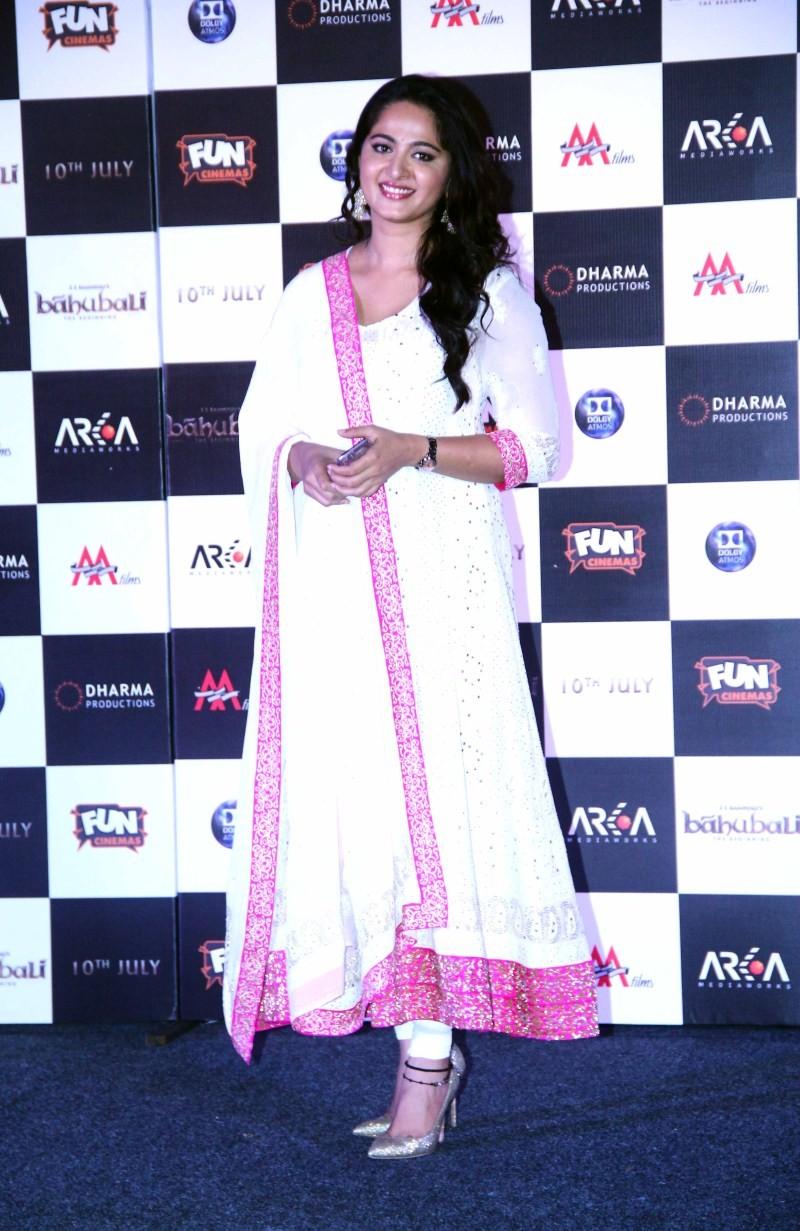 Anushka Shetty at Baahubali Trailer Launch
