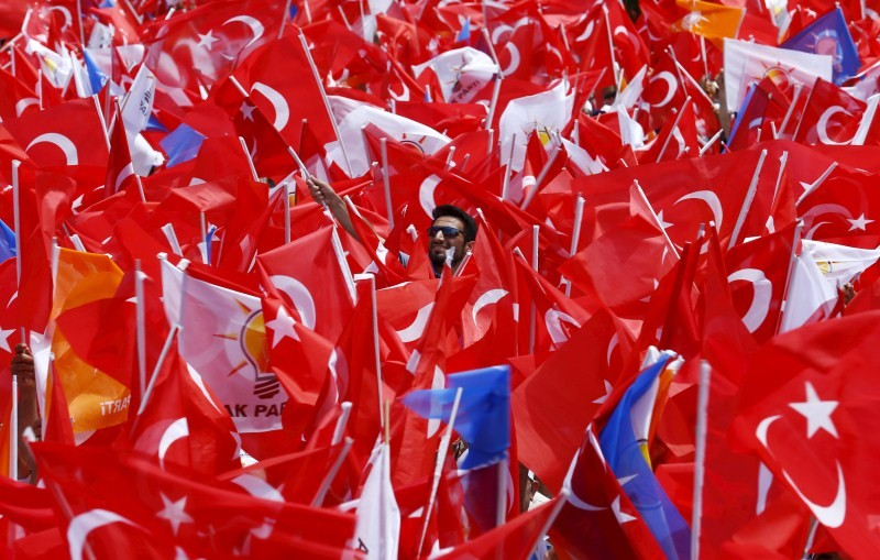 Turkey Faces a New Political Reality,Turkey New Political Reality,New Political Reality,Tayyip Erdogan,AK Party,Erdogan,Supporters of Turkey's,Turkey,Prime Minister Ahmet Davutoglu,Ahmet Davutoglu