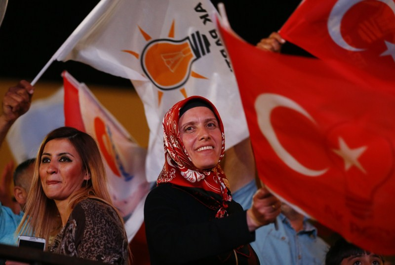 Turkey Faces a New Political Reality,Turkey New Political Reality,New Political Reality,Tayyip Erdogan,AK Party,Erdogan,Supporters of Turkey's,Turkey,Prime Minister Ahmet Davutoglu,Ahmet Davutoglu