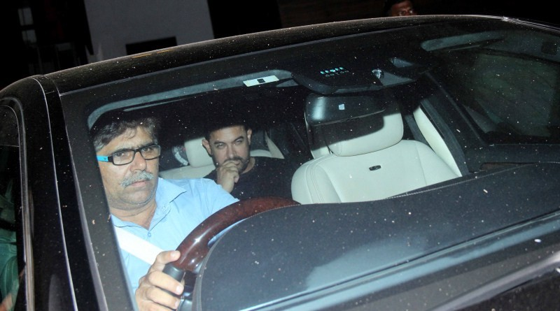 Aamir Khan,actor Aamir Khan,Aamir Khan snapped at Imran Khan house,Aamir Khan snapped at Avantika Malik's house,Aamir Khan snapped at Imran Khan and Avantika Malik's house,Aamir Khan pics,Aamir Khan images,Aamir Khan photos,Aamir Khan stills,Aamir Khan pi
