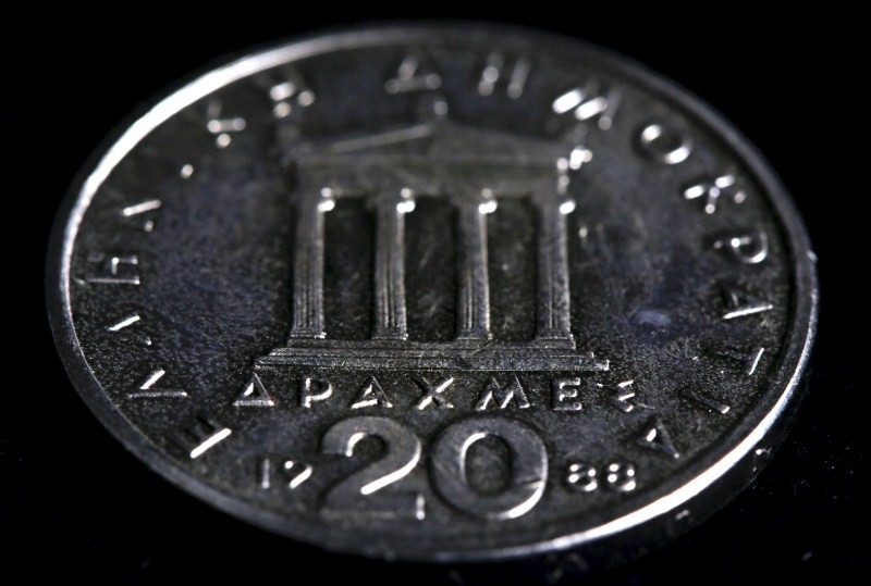 Greek Drachma Coins in Athens,Greek Drachma Coins,Greece Ancient Greek,Athens,Ancient Greek Money and Coins,Historic Currencies,Drachma Coins,Third modern drachma coins