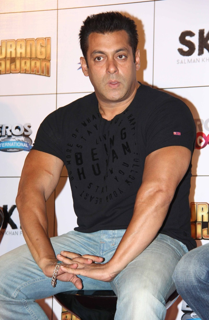 Salman Khan at Bajrangi Bhaijaan Trailer Launch,Salman Khan,Bajrangi Bhaijaan Trailer Launch,Bajrangi Bhaijaan,Salman Khan pics,Salman Khan images,Salman Khan photos,Salman Khan stills