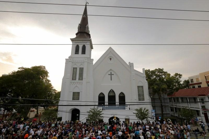 Charleston Shooting,Emanuel African Methodist Episcopal Church,church reopens,Emanuel AME Church,First service at church