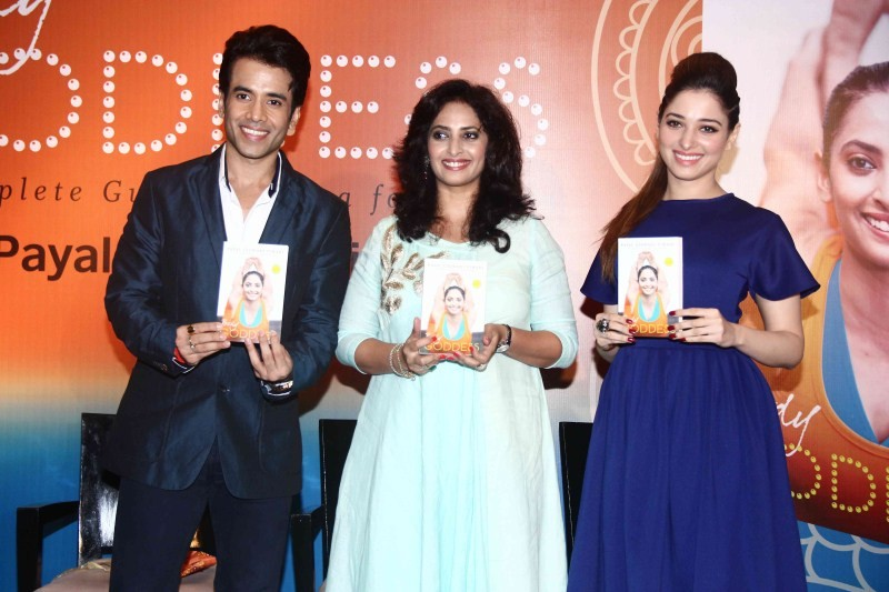 Tamannaah,Tusshar Kapoor,Tamannaah and Tusshar Kapoor,Tamannaah launch Yoga Book for Women,Tusshar Kapoor launch Yoga Book for Women,Yoga Book for Women