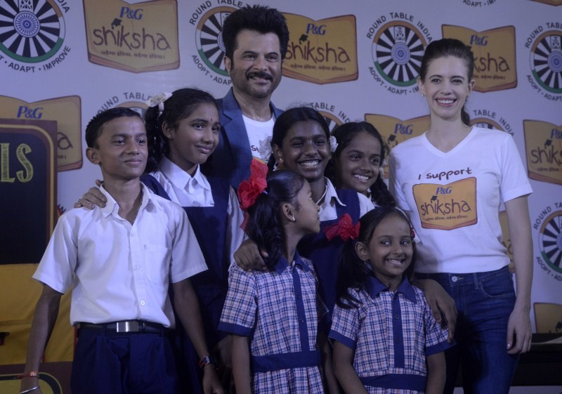 Anil Kapoor,Kalki Koechlin,Anil Kapoor and Kalki Koechlin Support 'P&G's Joy Of Shiksha,Anil Kapoor Support 'P&G's Joy Of Shiksha,Kalki Koechlin Support 'P&G's Joy Of Shiksha,P&G's Joy Of Shiksha,Shiksha