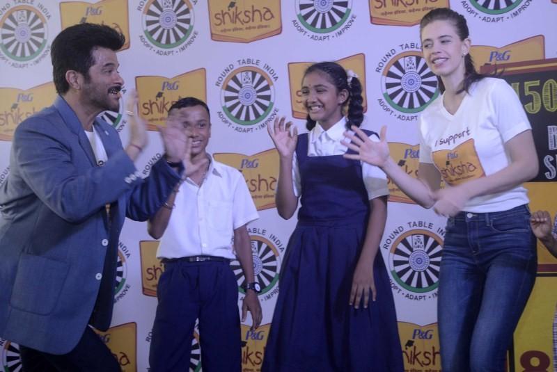 Anil Kapoor,Kalki Koechlin,Anil Kapoor and Kalki Koechlin Support 'P&G's Joy Of Shiksha,Anil Kapoor Support 'P&G's Joy Of Shiksha,Kalki Koechlin Support 'P&G's Joy Of Shiksha,P&G's Joy Of Shiksha,Shiksha