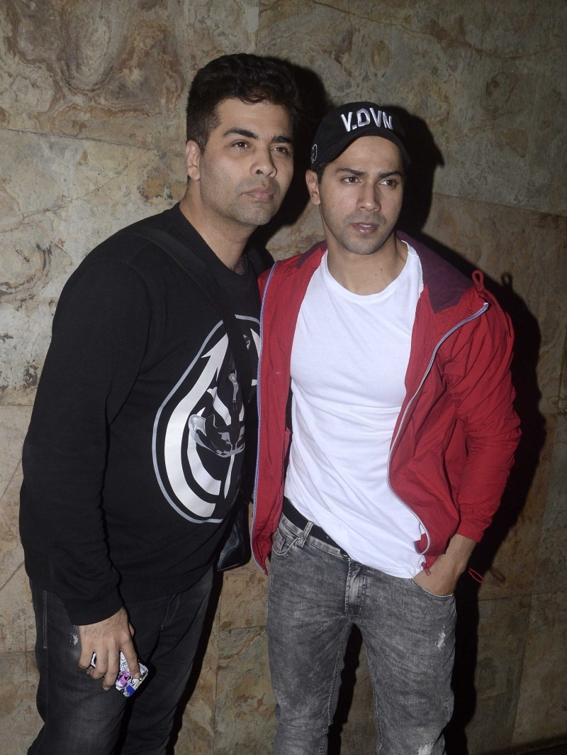 Varun Dhawan and Karan Johar spotted at Lightbox,Varun Dhawan spotted at Lightbox,Karan Johar spotted at Lightbox,Varun Dhawan and Karan Johar,Varun Dhawan,Karan Johar,Varun Dhawan pics,Varun Dhawan images,Varun Dhawan photos,Varun Dhawan stills,Varun Dha
