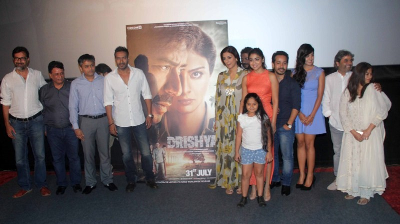 Drishyam,Drishyam Press Conference at PVR Juhu,Drishyam Press Conference,Drishyam movie promotion,Ajay Devgan,Tabu,Shriya Saran,Ajay Devgan at Drishyam Press Conference,Tabu at Drishyam Press Conference,Shriya Saran at Drishyam Press Conference