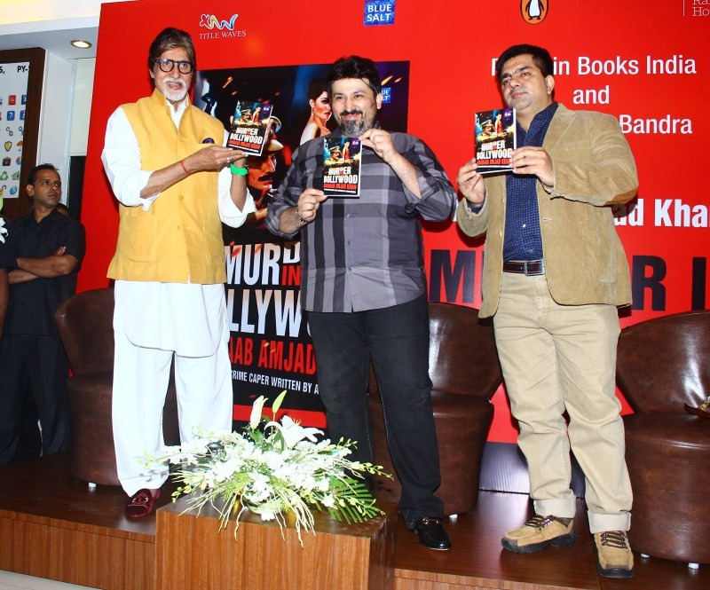 Amitabh Bachchan,Amitabh Bachchan launches 'Gabbar' Amjad Khan's son Shadaab's book,'Gabbar' Amjad Khan's son Shadaab's book,Shadaab's book,Actor Amitabh Bachchan,Amitabh Bachchan latest pics,Amitabh Bachchan latest images,Amitabh Bachchan latest photos,A