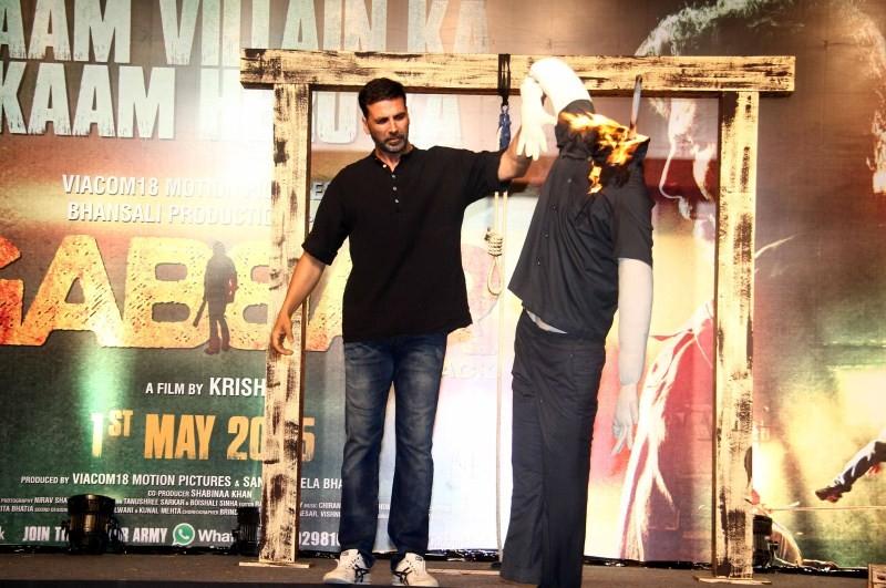 Akshay Kumar at Gabbar is Back Trailer Launch