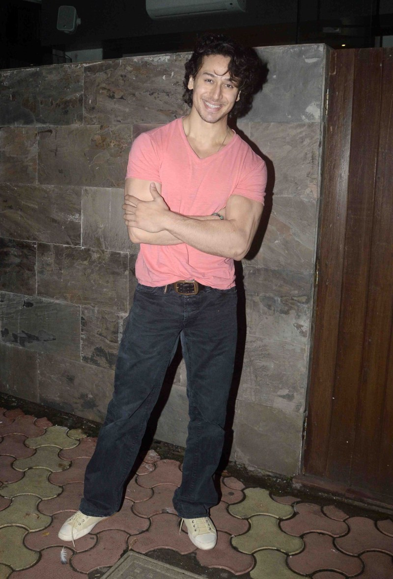 Tiger Shroff spotted with a Girl at Bandra Restaurant,Tiger Shroff spotted with a Girl,Tiger Shroff,actor Tiger Shroff,Tiger Shroff with a Girl,Tiger Shroff spotted with a Girl at Restaurant,Tiger Shroff latest pics,Tiger Shroff latest images,Tiger Shroff