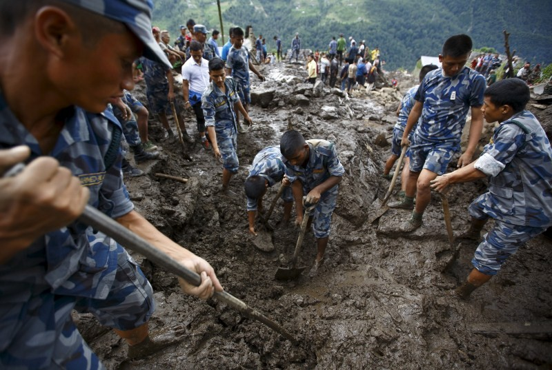 Nepal Landslides triggered by Rain,Landslides in Nepal,Landslides,Kaski district,Nepal,Landslides bury Nepal villages,Landslides in Western Nepal,heavy rain,heavy rain in Nepal