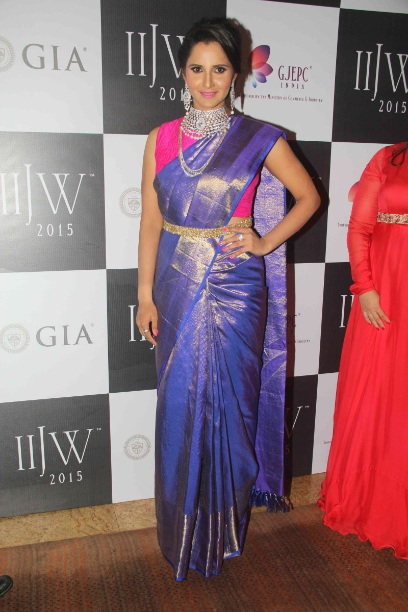 Sania Mirza,Sania Mirza walks the ramp at India International Jewellery Week,Sania Mirza at India International Jewellery Week,IIJW 2015,IIJW,Sania Mirza at IIJW,Sania Mirza latest pics,Sania Mirza latest images,Sania Mirza latest photos,Sania Mirza lates