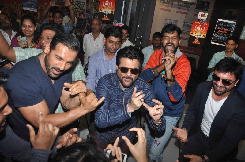 John Abraham,Anil Kapoor,John Abraham and Anil Kapoor,Welcome Back,Welcome Back movie promotion,Welcome Back movie promotion at Fever 104 FM,at Fever 104 FM