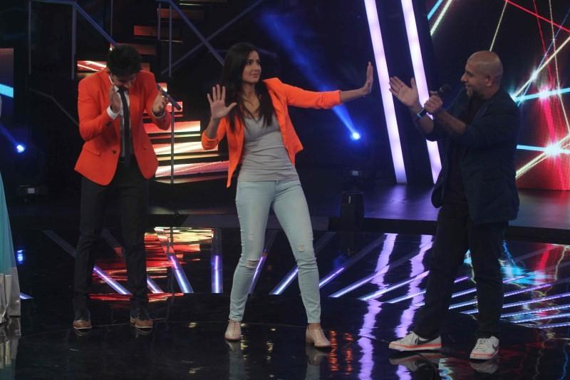 Saif Ali Khan,Katrina Kaif,Sonakshi Sinha,Phantom movie promotion,Indian Idol Junior sets,Indian Idol Junior,indian idol junior 2015