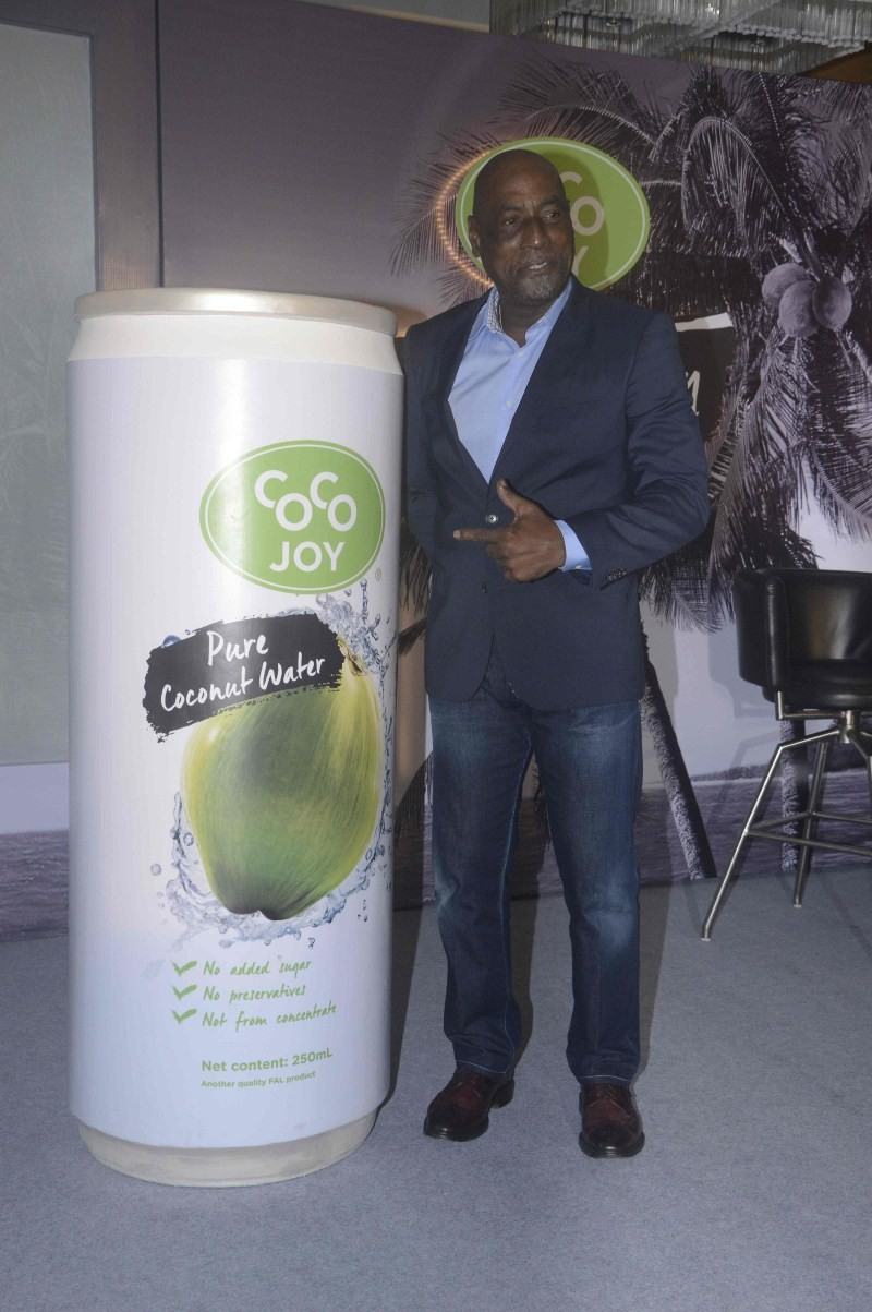 Vivian Richards launches Coco Joy,Vivian Richards,Coco Joy,Coco Joy in india,Food & Beverages,Cricket legend Sir Vivian Richards,Cricket legend Vivian Richards
