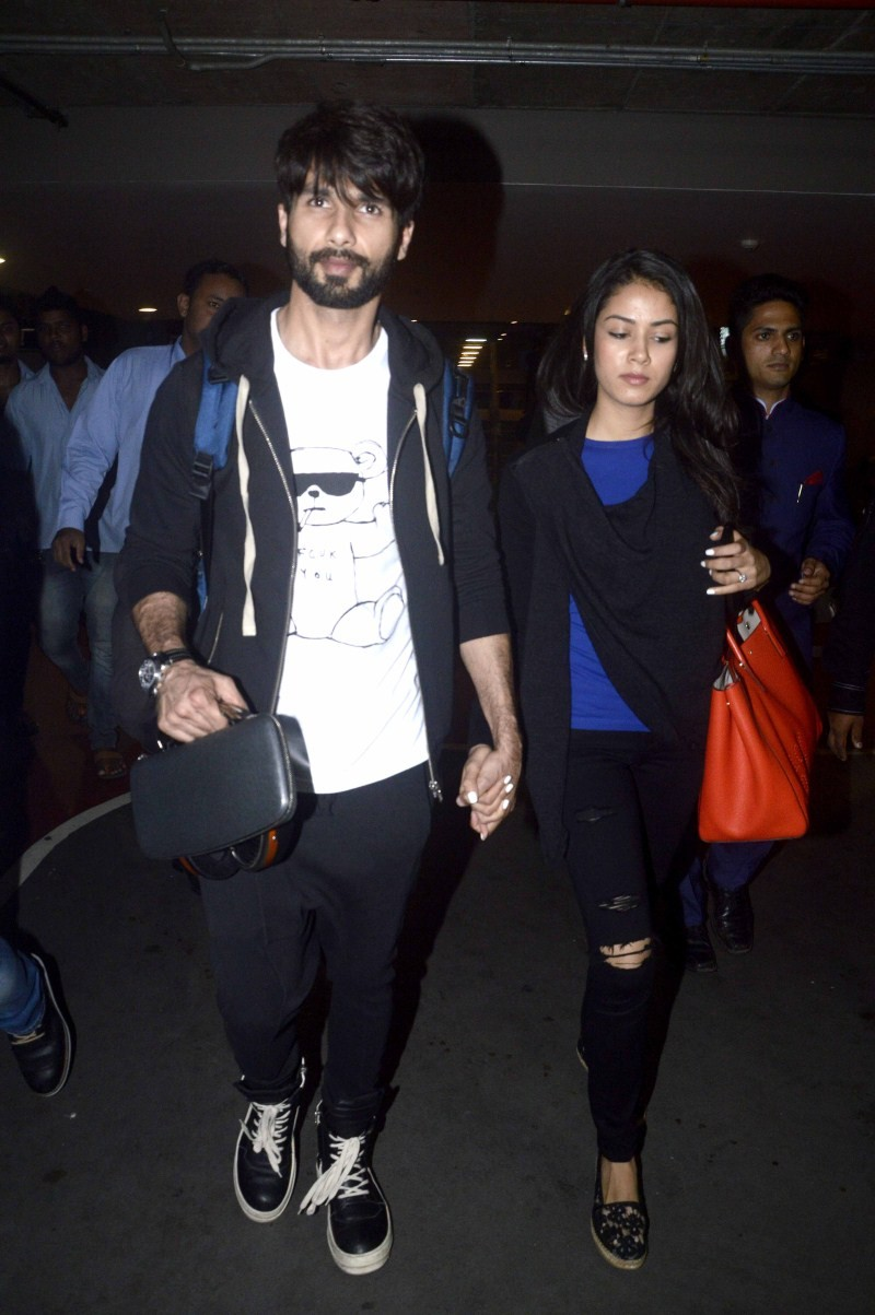 Shahid Kapoor,Shahid Kapoor wife Mira Rajput,Mira Rajput,Shahid Kapoor And Mira Rajput Return From Honeymoon,Shahid Kapoor And Mira Rajput Honeymoon