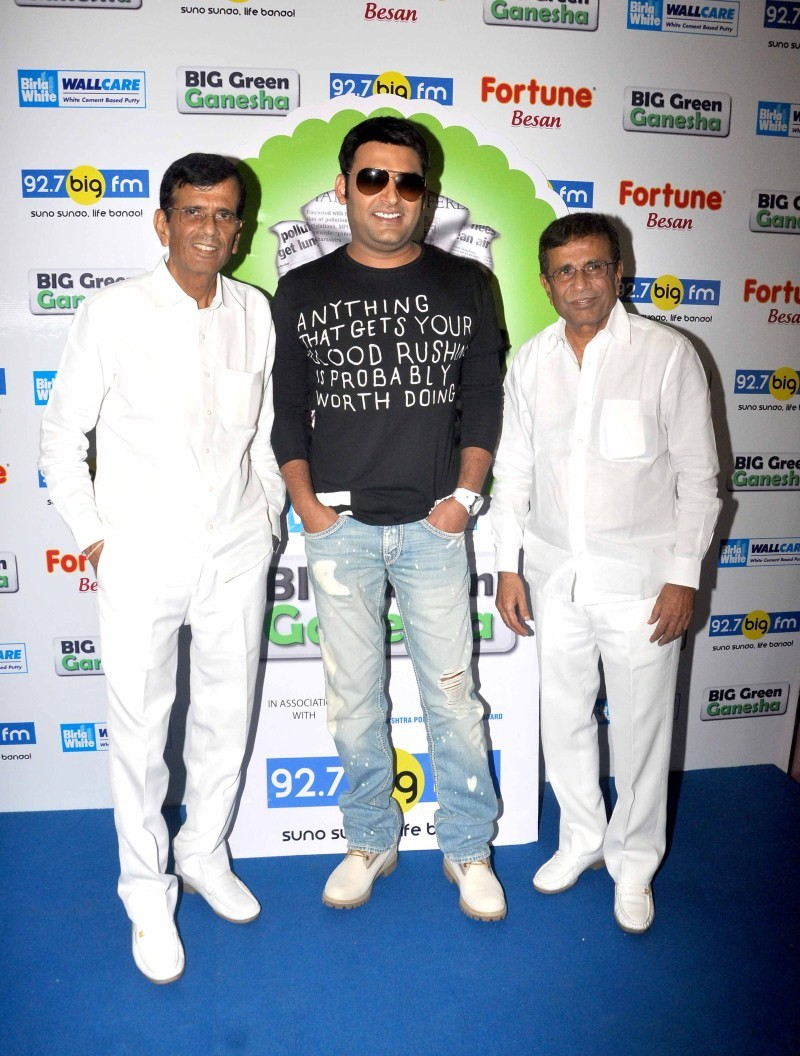 Kapil Sharma,Abbas Mustan,Kis Kisko Pyaar Karu,Kis Kisko Pyaar Karu movie promotion,Kis Kisko Pyaar Karu movie promotion at 92.7 Big Fm,92.7 Big Fm,Kapil Sharma and Abbas Mustan,BIG Green Ganesha,Mustan Burmawalla,Abbas Burmawalla