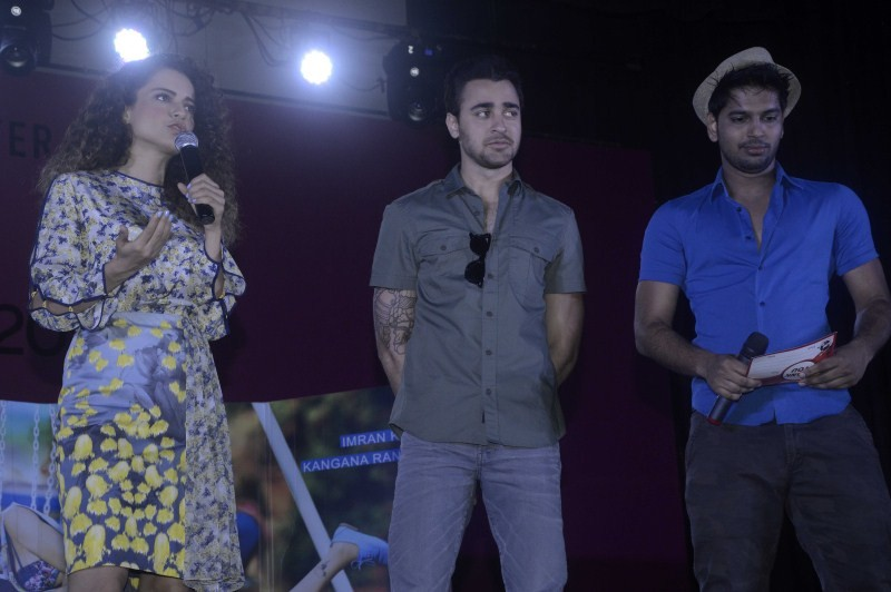 Imran khan,Kangana Ranaut,Imran and Kangana,Katti Batti,Katti Batti movie promotion,Katti Batti movie promotion at Sophia Collage Fest,Sophia Collage Fest,bollywood movie Katti Batti